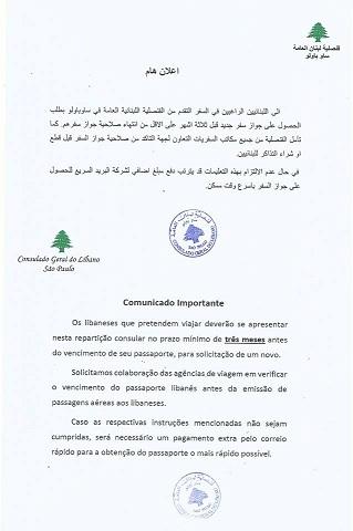 Comunicado Importante - PASSAPORTES