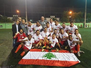 لاول مرة في تاريخ كرة القدم في البرازيل يفوز لبنان بكأس البطولة السادسة العالمية لكرة القدم للهواة