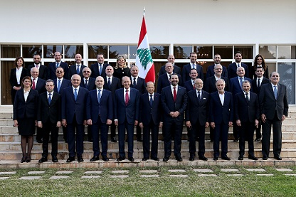 Formation of the new Lebanese government on 31/1/2019