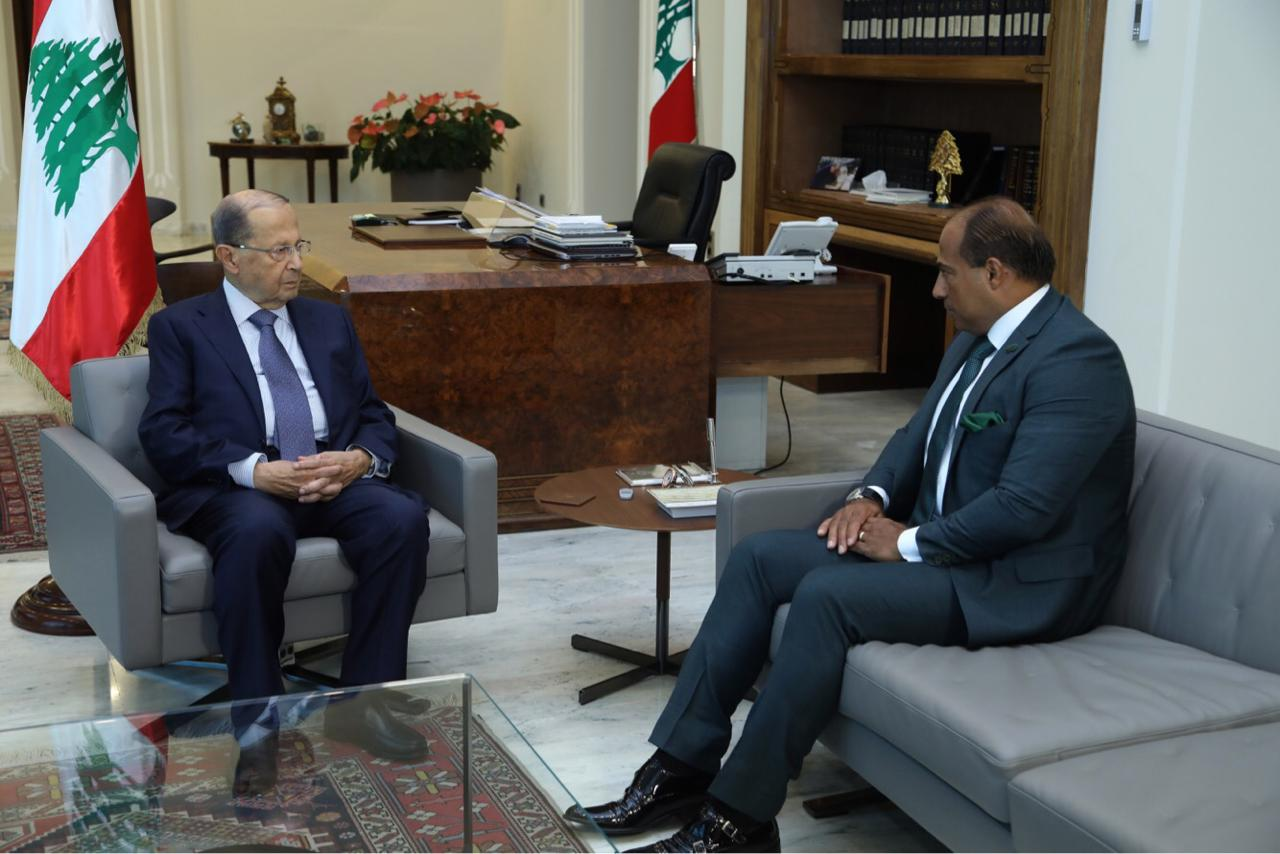 التقاء سفير لبنان لدى مملكة المغرب زياد عطا الله برئيس الجمهورية العماد ميشال عون   