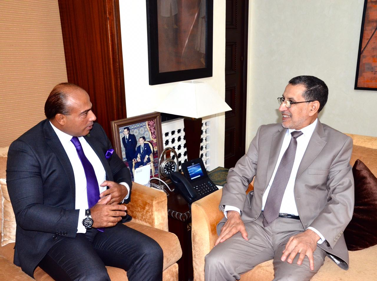 لقاء السفير مع الرئيس الحكومة المغربية