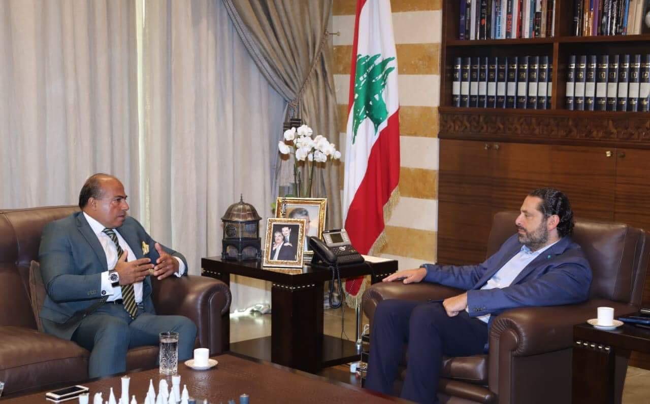 التقاء سفير لبنان لدى مملكة المغرب زياد عطا الله برئيس مجلس الوزراء سعد الحريري   