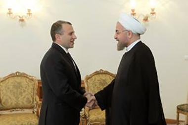 صور الوزير باسيل في ايران