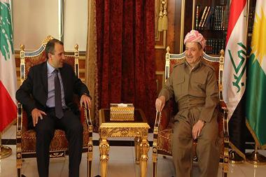 صور الوزير باسيل في العراق