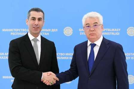 Meeting with Foreign Minister Beibut Atamkulov on 7 August 2019