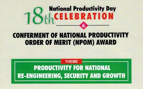 Conferment Of National Productivity Order of Merit Award to Chief Nabil Ahmed Saleh