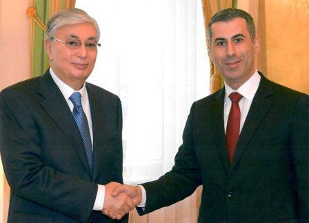 With President of Kazakhstan HEM Kassym-Zhomart Tokayev during meeting with Diplomatic Corps